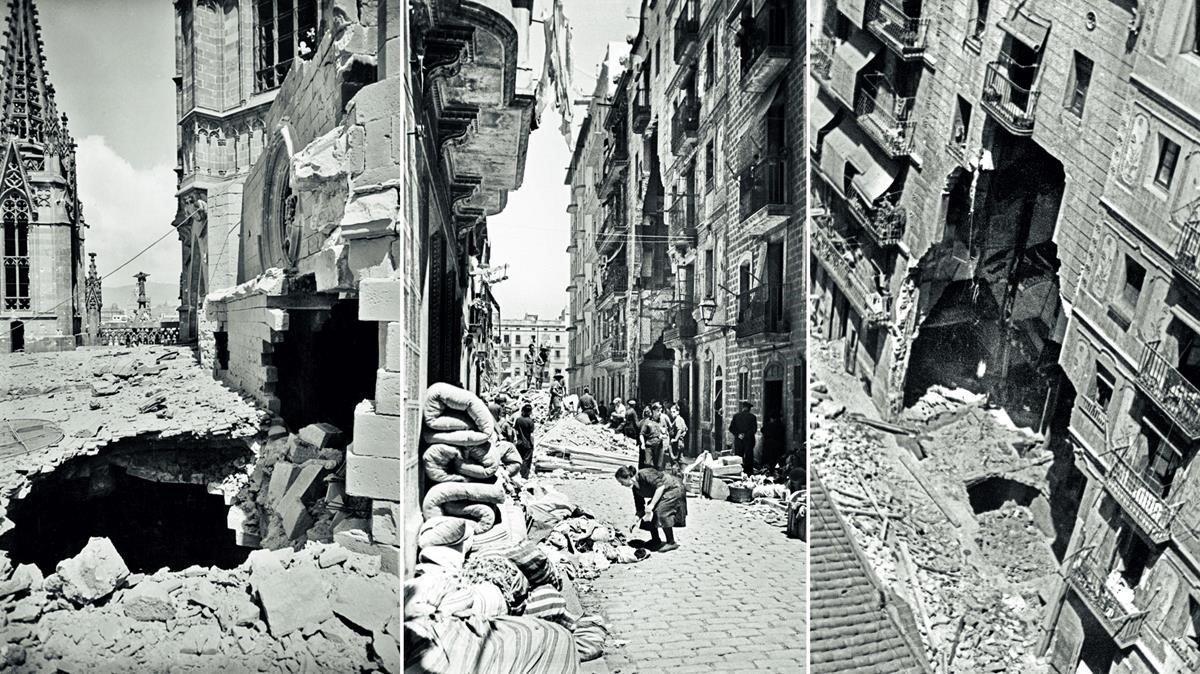 El bombardeig aeri de Barcelona: 1.800 edificis tocats en 24 mesos