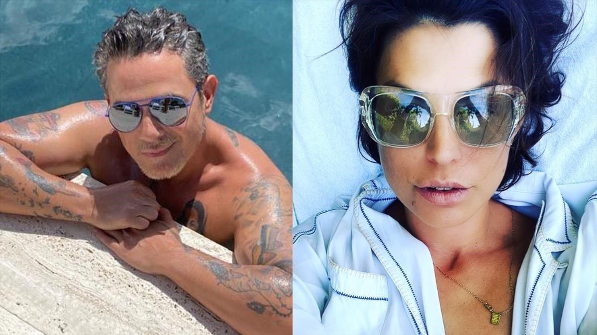 Alejandro Sanz y Raquel Perera.