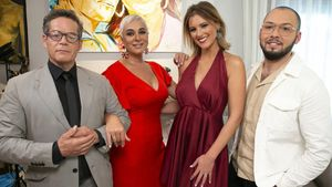 Jorge Sanz, Ana María Aldón, María Jesús Ruiz y José Antonio Avilés en 'Ven a cenar conmigo: gourmet edition'