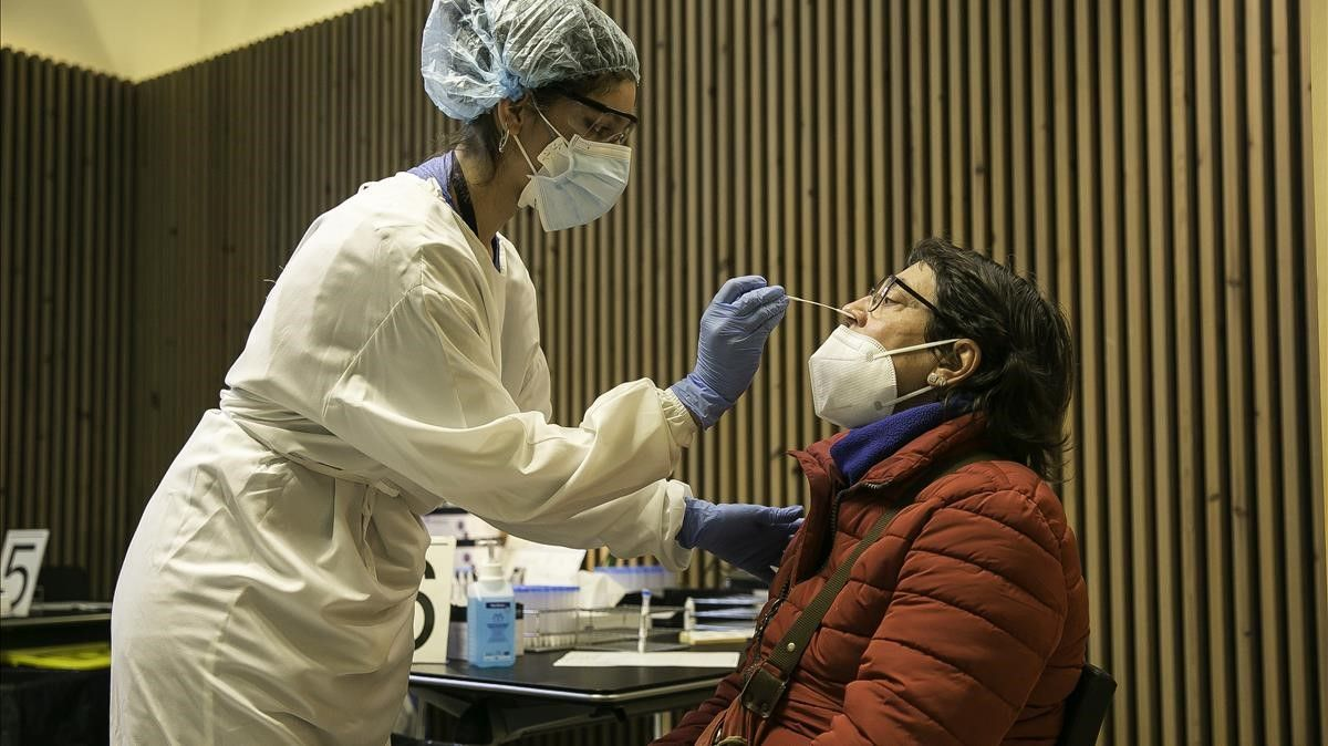 Cribado poblacional en el Recinto Modernista del Hospital de Sant Pau de Barcelona, el 1 de diciembre.