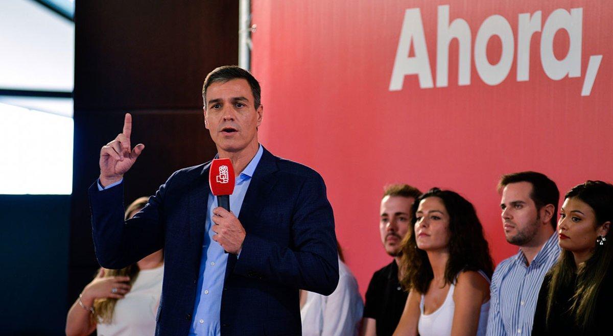 Pedro Sánchez, durante un mitin en Jaén a principios de octubre.