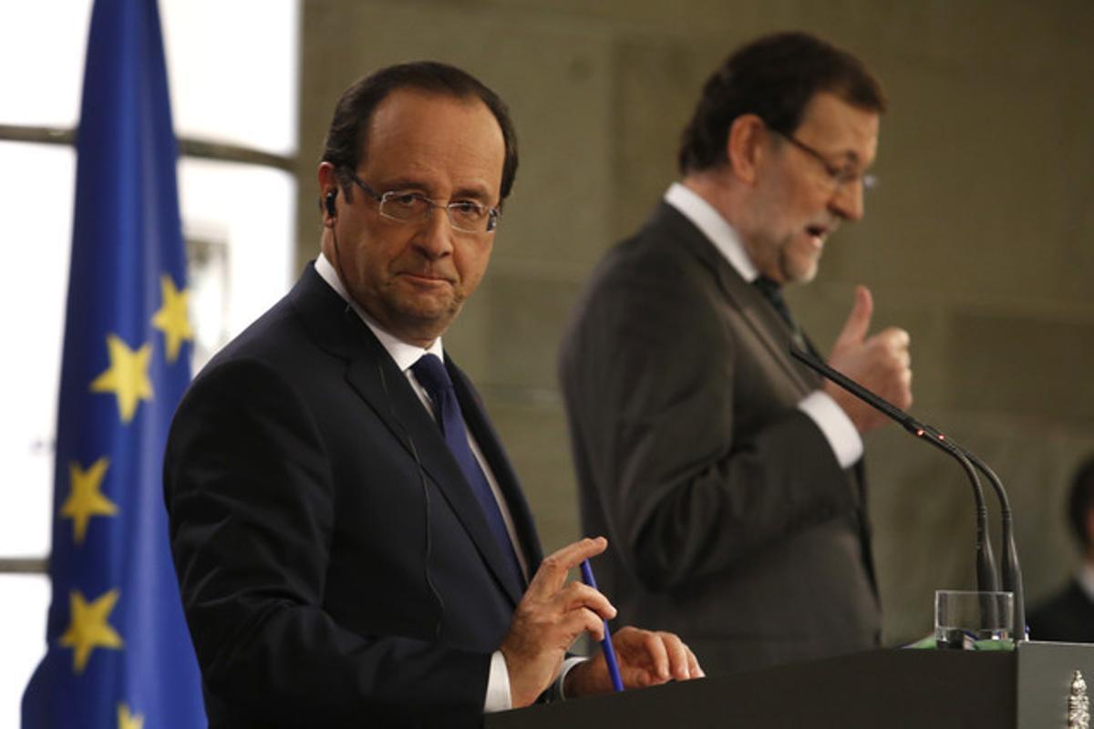 Hollande y Rajoy, en la Moncloa.