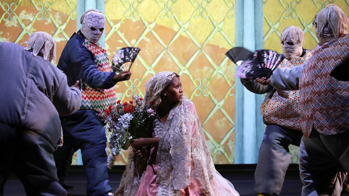 Una escena de 'Samsó', en el Teatre Lliure.