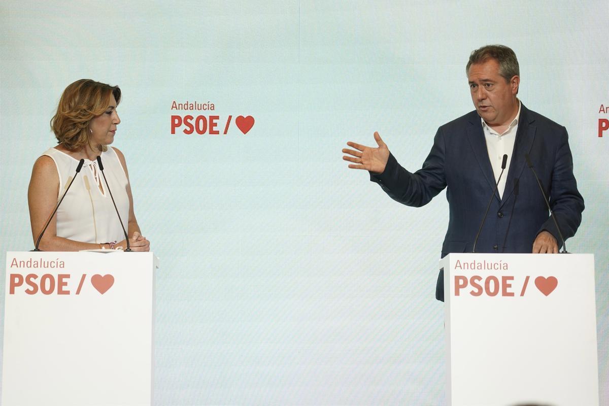 Díaz pacta amb Espadas el seu relleu com a líder del PSOE andalús al juliol