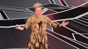 Frances McDormand, tras ganar el Oscar a la mejor actriz por 'Tres anuncios en las afueras'