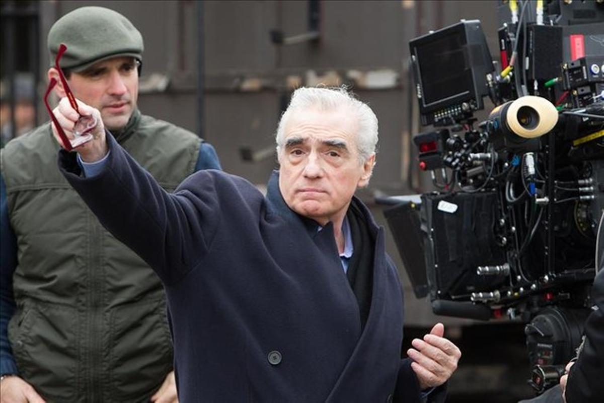 Martin Scorsese, durante el rodaje de la película 'Hugo'.