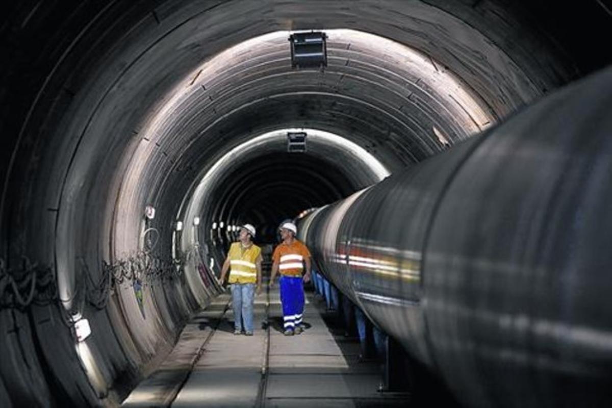 Túnel de interconexión Fontsanta-Trinitat, gestionada por Aigües Ter Llobregat, que hasta el 2012 estaba controlada por la ACA.