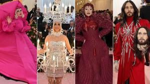 Excentricidad y estilo libre en la gala del MET. En la foto, de izquierda a derecha,Lady Gaga, Katy Perry, Cardi B y Jared Leto.