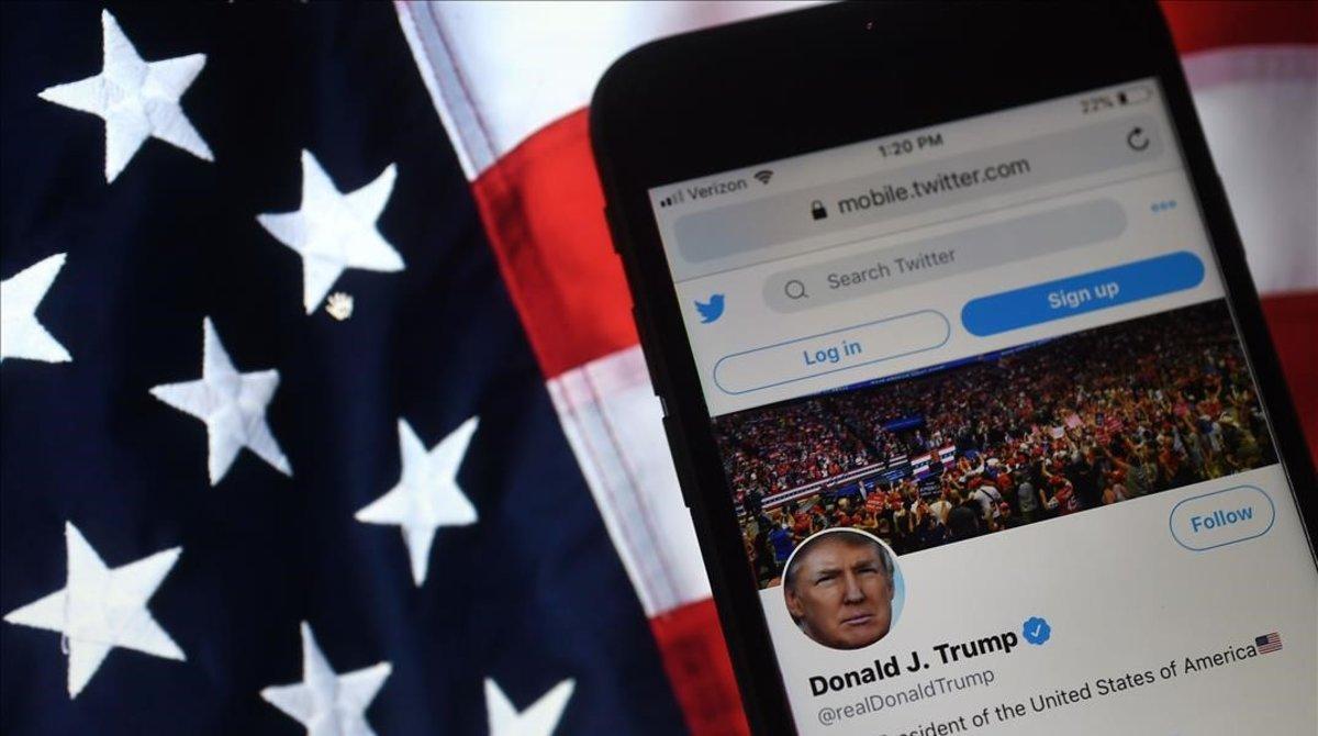 La cuenta de Twitter de Donald Trump.