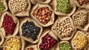 Una selección de legumbres, uno de los mejores alimentos contra el frío.