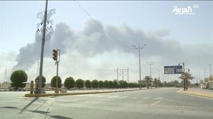 Imágenes de Al Arabiya del ataque a refinerías de Arabia Saudí.