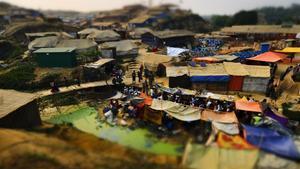Campo de refugiados rohinyás en Bangladés.