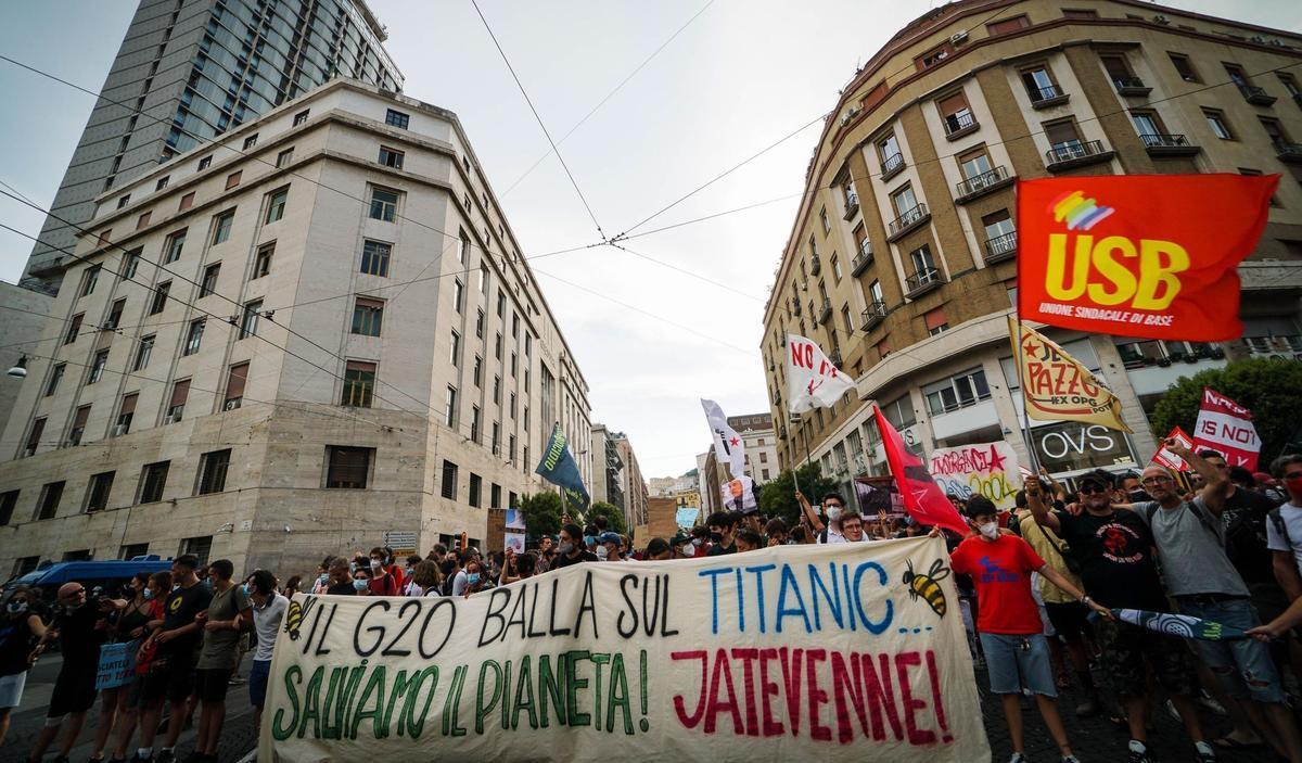 Protesta contra la reunión ministerial de medio ambiente del G20