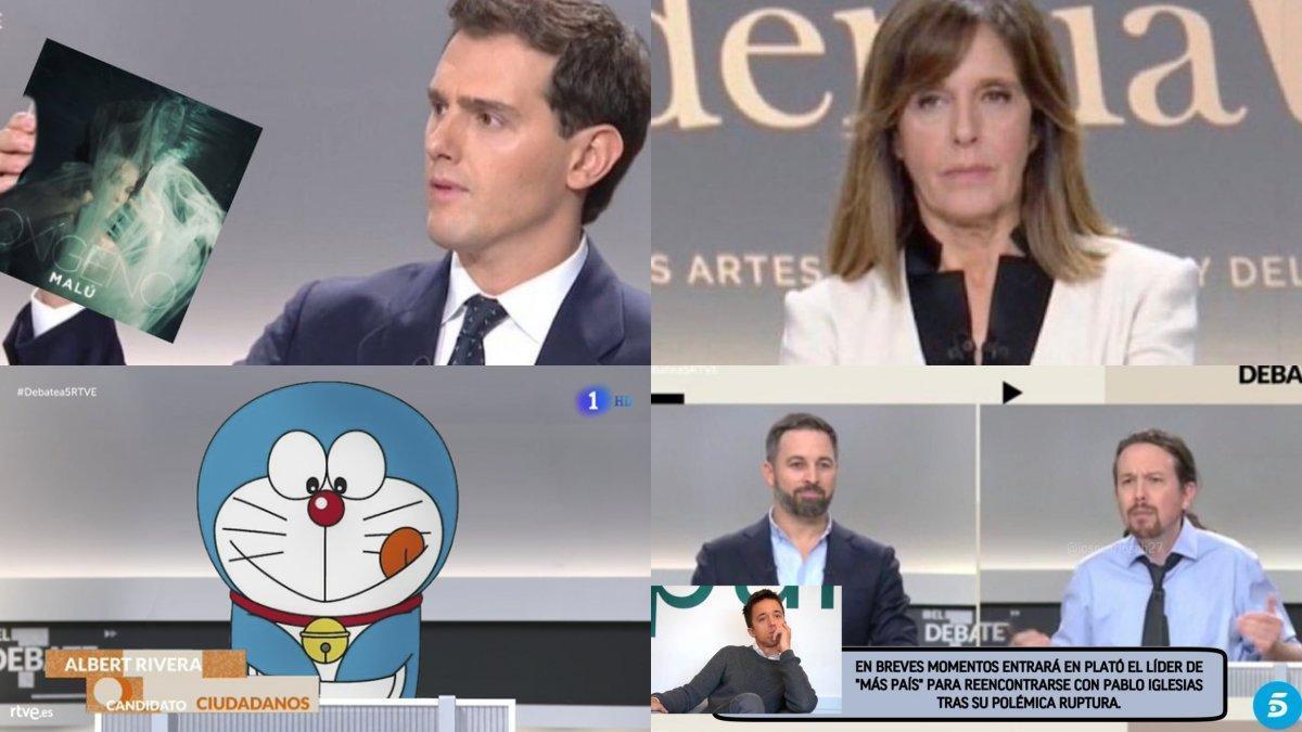 Algunos de los mejores memes del debate a cinco organizado por la Academia de la Televisión.