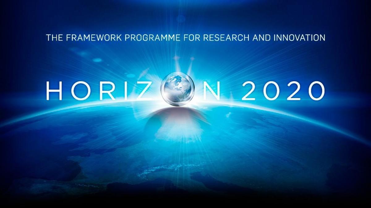 Logotipo del programa europeo Horizonte 2020 de apoyo a la ciencia y la innovación.