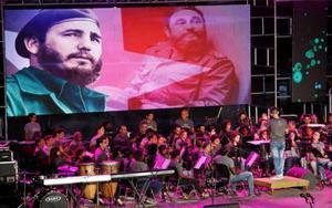 Homenajes a Fidel Castro en la Habana, Cuba.