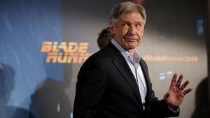 Harrison Ford, en Madrid, donde ha presentado a la prensa 'Blade runner 2049', que se estrena el 6 de octubre.