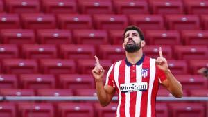 Diego Costa, en un partido contra el Granada.