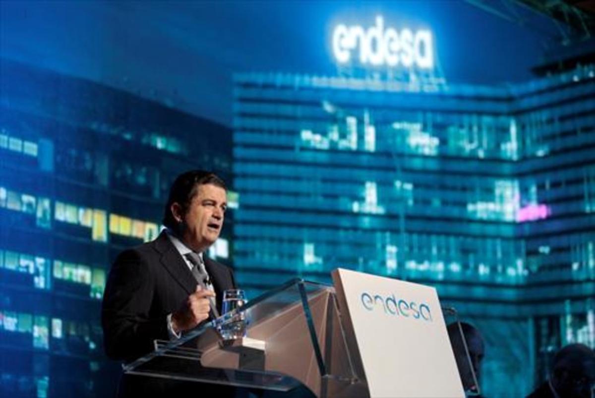 Borja Prado, presidente de Endesa, en la junta de accionistas.