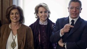 Ana Botella,Esperanza Aguirre y Alberto Ruiz Gallardón.