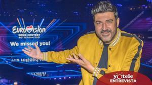 Tony Aguilar en el escenario de Eurovisión 2021