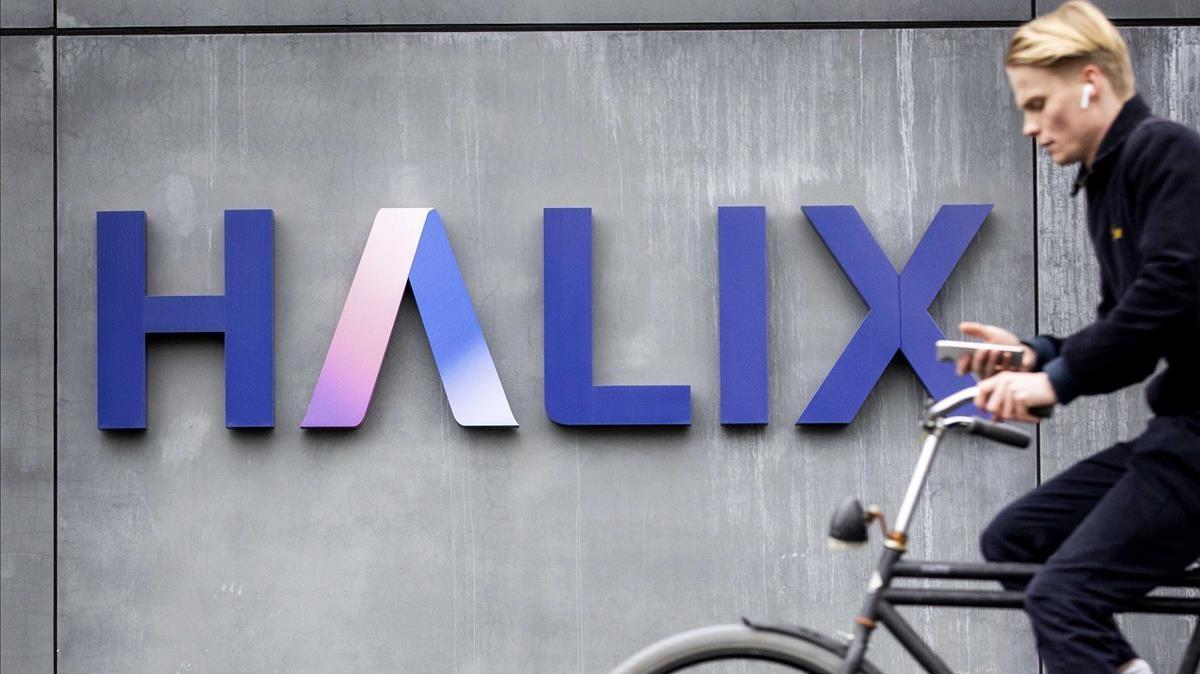 Logo de la farmacéutica Halix en Leiden (Países Bajos).