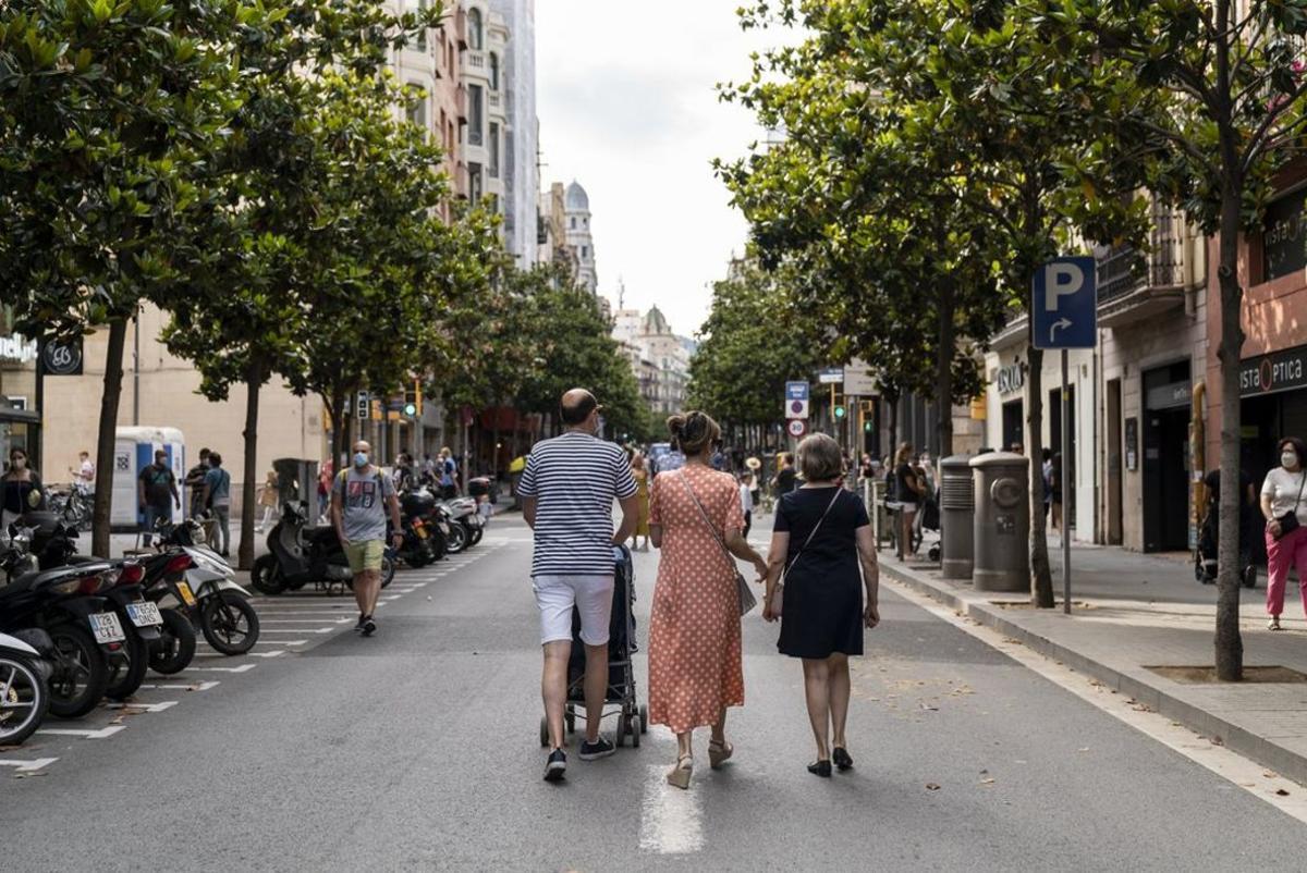 Itinerario seguro en la calle Gran de Gràcia.