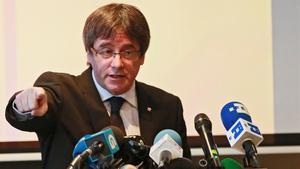 El 'president' cesado, Carles Puigdemont, en Bruselas.