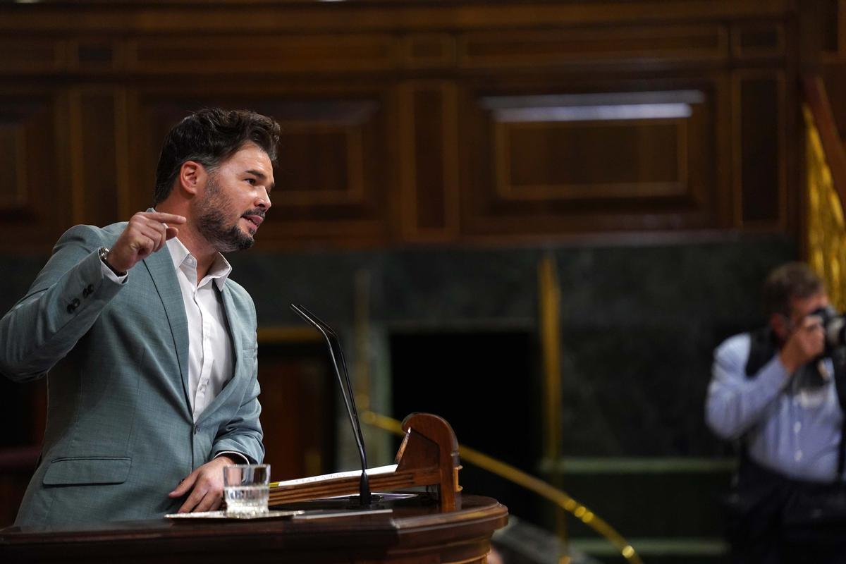 Gabriel Rufiándurante el pleno del Congreso celebrado hoy.