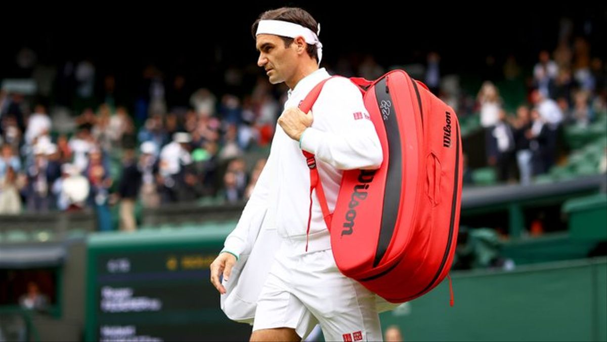 Federer, en su último partido en Wimbledon,
