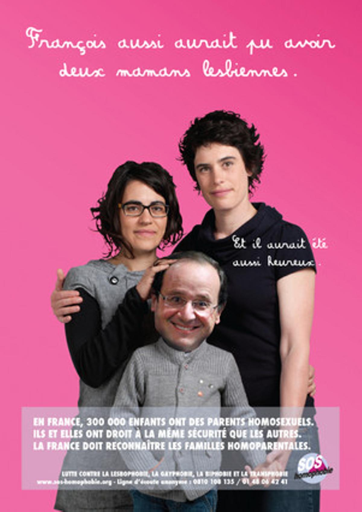 Hollande, en el cartel de la oenegé.