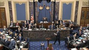 Imagen de la sesión del 'impeachment' de este sábado en el Senado.
