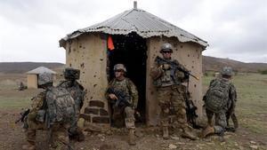 Soldados estadounidense en un ejercicio de entrenamiento en África.