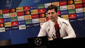 Pochettino, en la rueda de prensa que ha ofrecido en el Camp Nou.