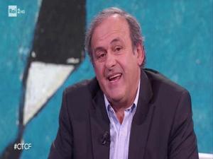 Michel Platini, en una captura de imagen del programa de la RAI.