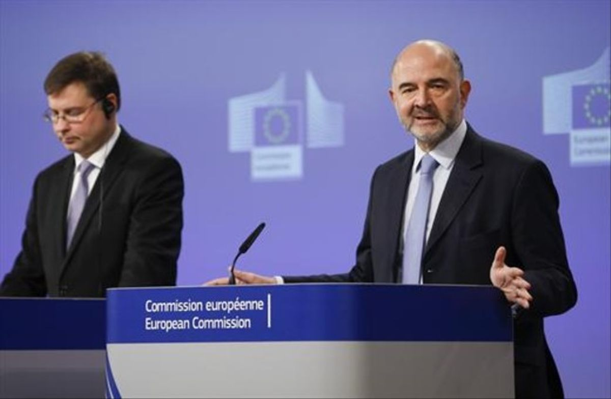 El comisario europeo Pierre Moscivici, ayer en Bruselas