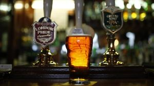 Una pinta de cervesa en un 'pub' de Liverpool, al novembre.