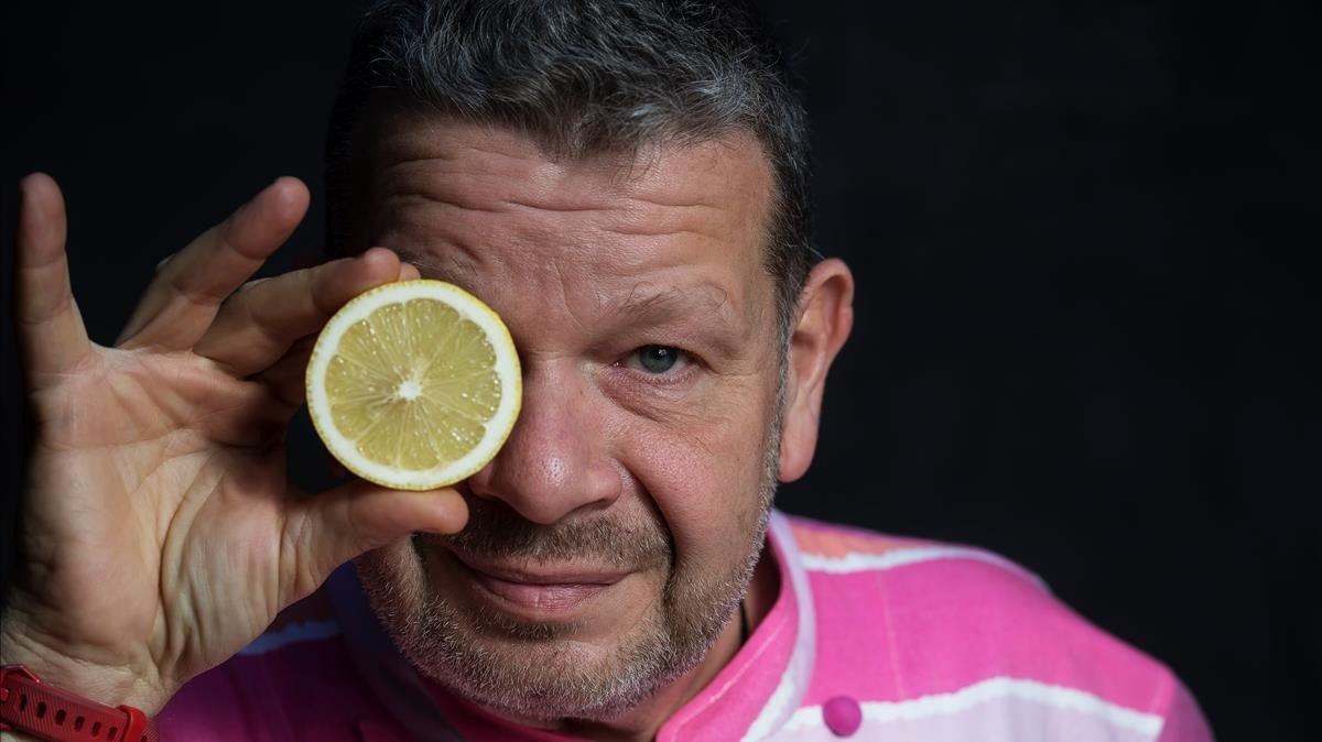 El chef Alberto Chicote, en su reciente 'workshop' en Barcelona.