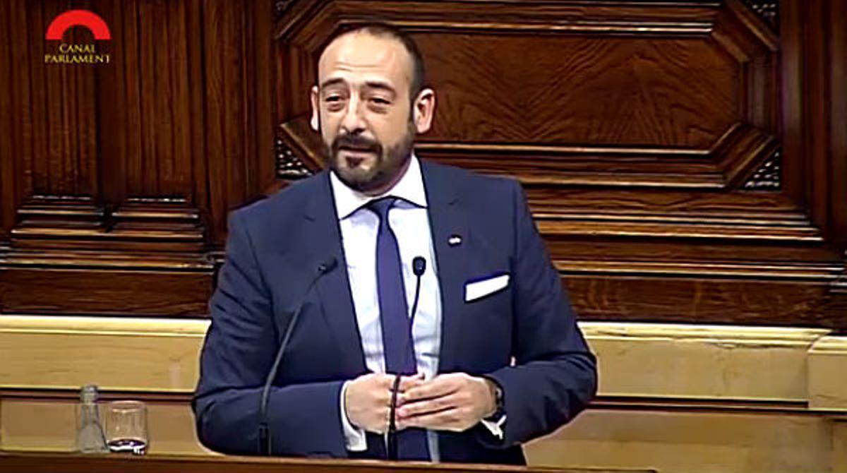 Intervención de Jordi Cañas, de Ciutadans, en el pleno del Parlament