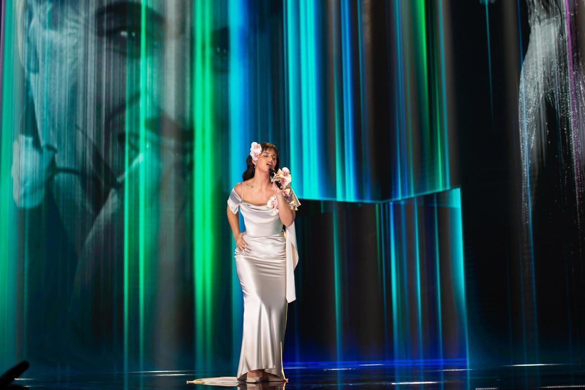 Nancy Peluso, en su actuación en los Goya 2021