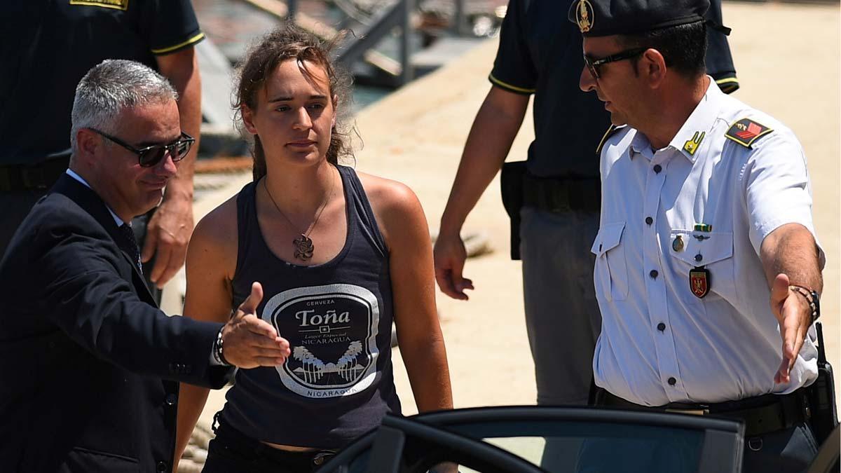La justicia italiana deja en libertad a Carola Rackete, la capitana de 'Sea Watch'.
