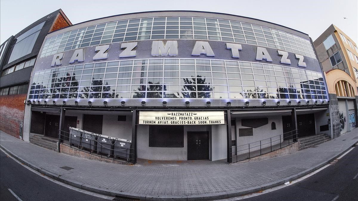 La sala Razzmatazz, que lleva cerrada desde el mes de marzo.