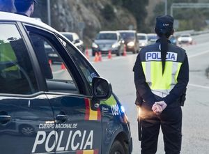 Control policial a la Jonquera, el març del 2014.
