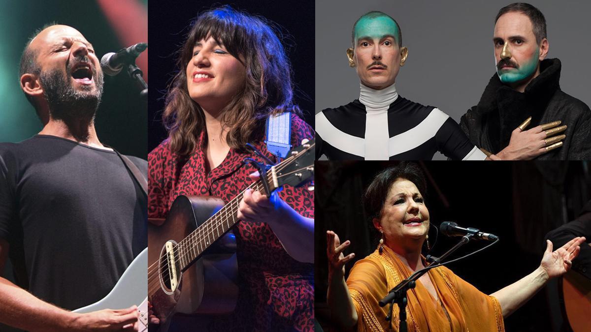 Josele Santiago, de Los Enemigos, Joana Serrat, Hidrogenesse y Carmen Linares.