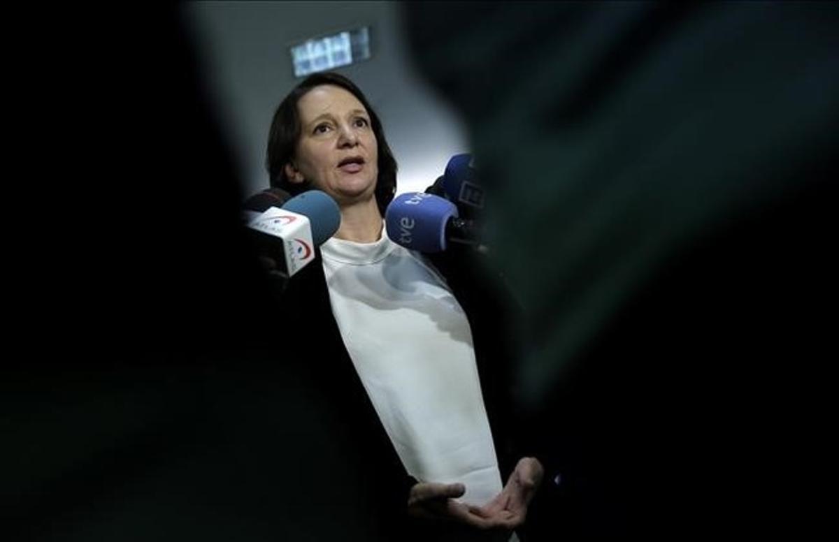 La diputada de Podemos Carolina Bescansa, en el Congreso.