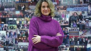 Entrevista aTeresa López , presidenta de Fademur (mujeres rurales) en su despacho de Madrid.