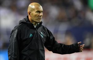 Zidane, durante el último partido de pretemporada contra un combinado de la MSL.