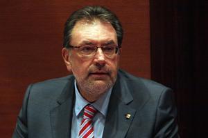 El 'conseller' Josep Lluís Cleries, durante la comparecencia.