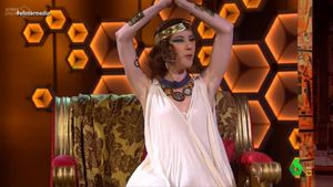 La Ayuso de 'El intermedio' ya es faraona.