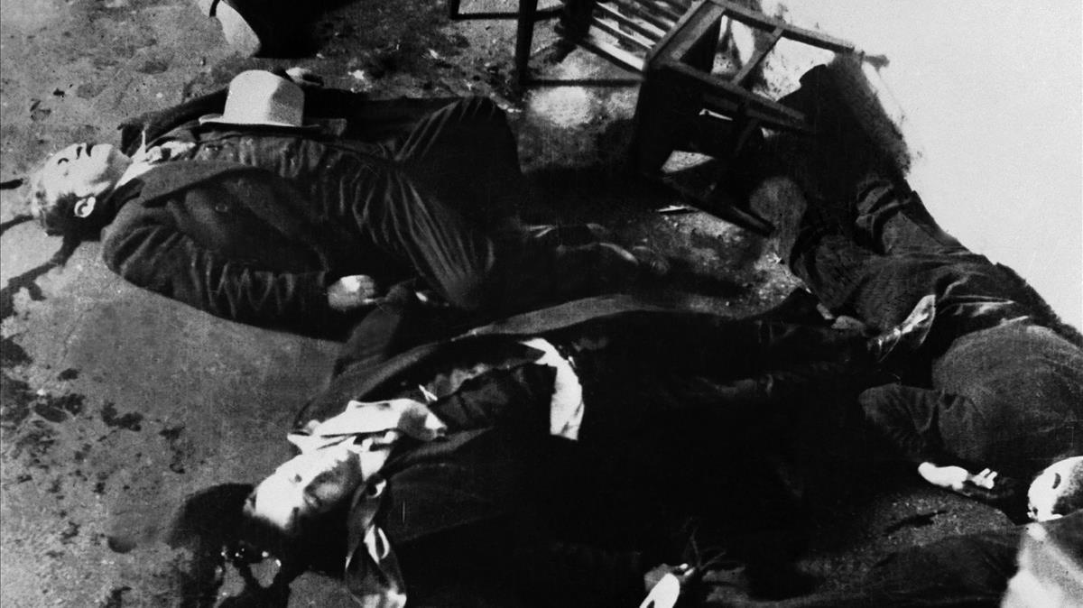 Matanza de San Valentín ordenada por Al Capone en 1929.